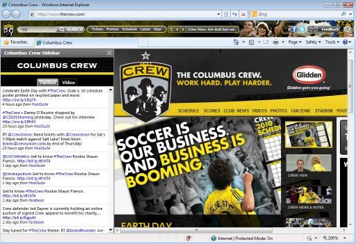 Download Columbus Crew MLS Firefox Theme