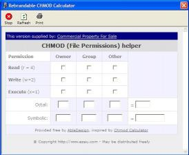 Download Commercial Property CHMOD Calculator