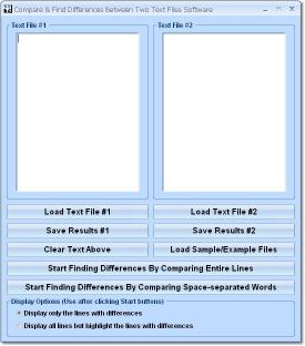 Download Compare & Find Differences Between Two Text Files Software