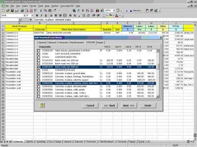 Download ConcreteCost Estimator for Excel