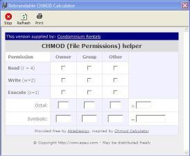 Download Condominiums CHMOD Calculator