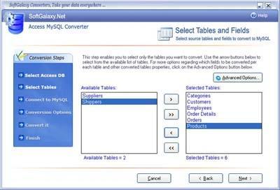 Download convert Access To MySql Wizard