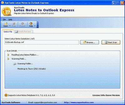 Download Convert Lotus Notes to Outlook Express