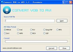 Download Convert VOB to AVI