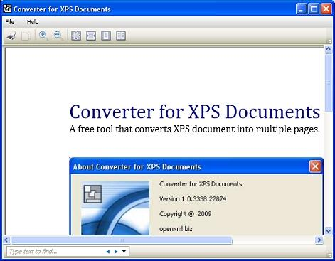 Download Converter for XPS Documents