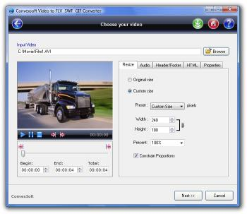 Download ConvexSoft Video to FLV SWF GIF Convert