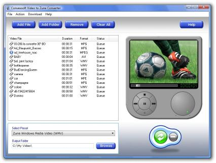 Download ConvexSoft Video to Zune Converter