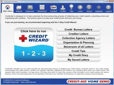 Credit-Aid HOME Credit Repair Software
