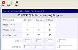 Download Credit CHMOD Calculator