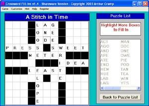 Download Crossword FillIns