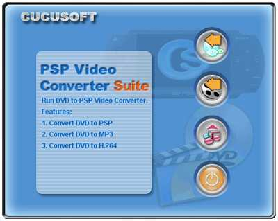 Cucusoft PSP Video Converter + DVD to PSP Suite