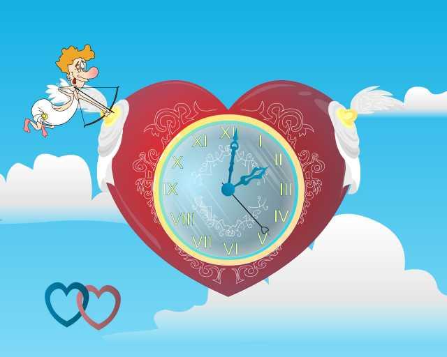 Cupid Clock screensaver