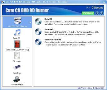 Download Cute CD DVD BD Burner Professional