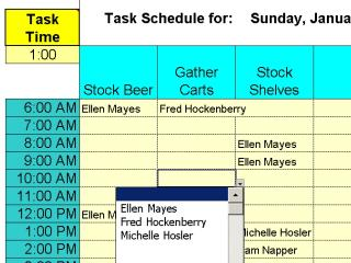 Download Daily Shifts and Tasks for 25 Employees