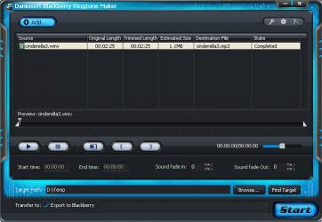 Download Daniusoft Blackberry Ringtone Maker