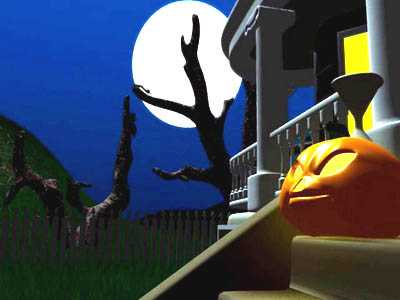 Download Dark Halloween Night 3D Screensaver