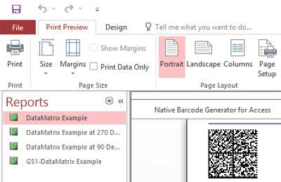 Data Matrix Native Access Barcode