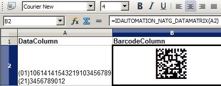 Download Data Matrix Native OpenOffice Generator