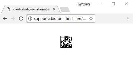 Data Matrix PHP Barcode Generator Script