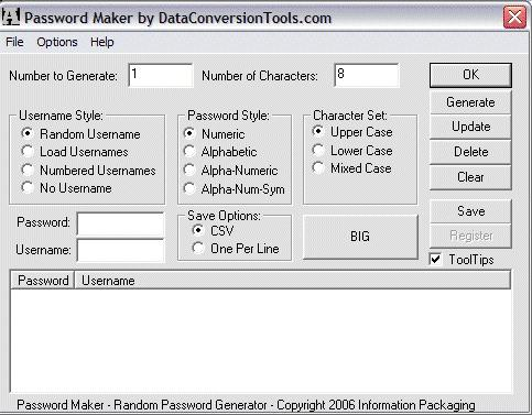 Download DataConversionTools.com Password Maker