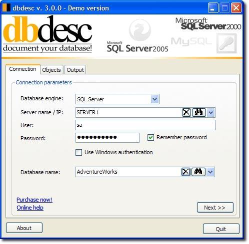 Download dbdesc