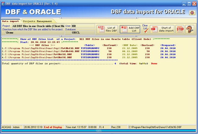 DBF data import for ORACLE - standaloneinstaller com