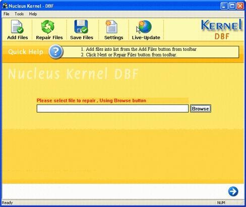 Download DBF File Repair