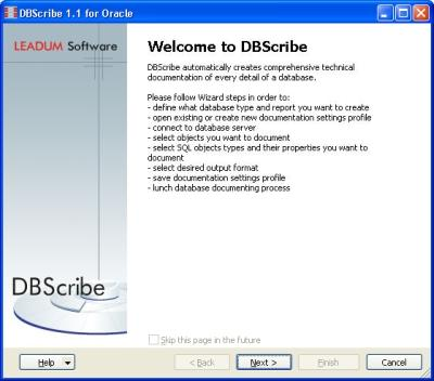 Download DBScribe for Oracle