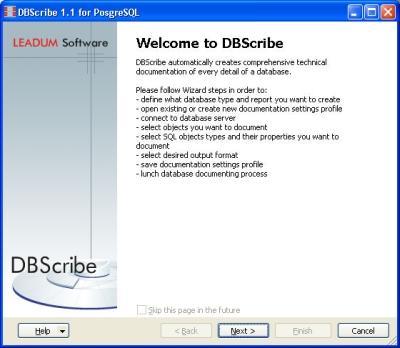 Download DBScribe for PostgreSQL