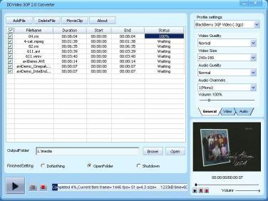 Download DDVideo 3GP Video Converter Gain