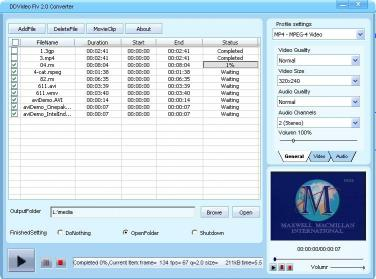 Download DDVideo FLV Video Converter Gain
