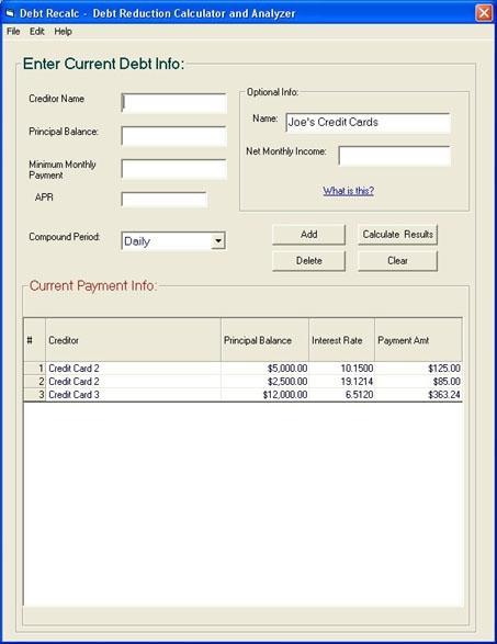 Download Debt ReCalc