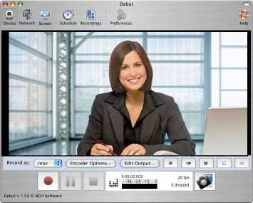 Download Debut Free Mac Video Recording Software