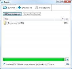 Download Degoo 100 GB Free Cloud Backup