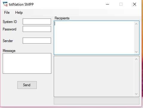 Desktop SMS SMPP tool