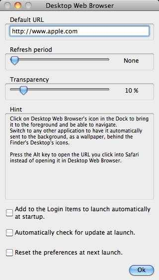 Desktop Web Browser for Mac