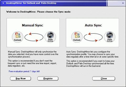 Download DesktopMirror for Outlook Palm Desktop