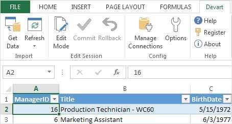 Devart Excel Add-in Cloud Pack
