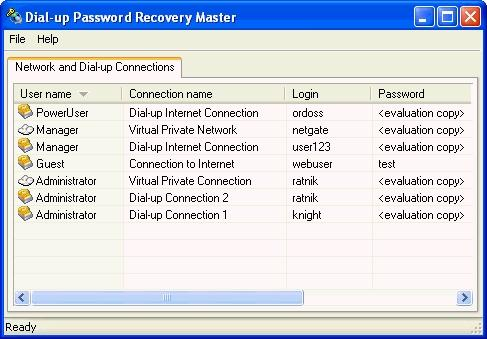 Download Dial-up Password Recovery Master