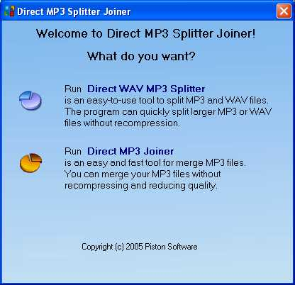 Direct MP3 Splitter Joiner
