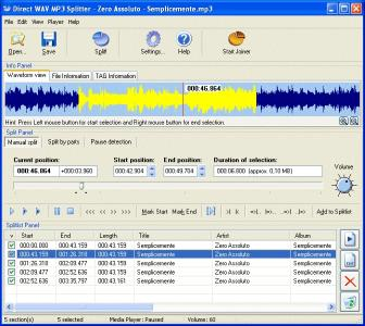 Download Direct WAV MP3 Splitter