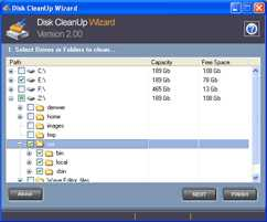 Disk CleanUp Wizard by AbyssMedia