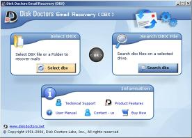Download Disk Doctors Email Recovery (DBX)