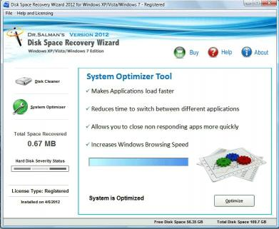 Download Disk Space Recovery Wizard