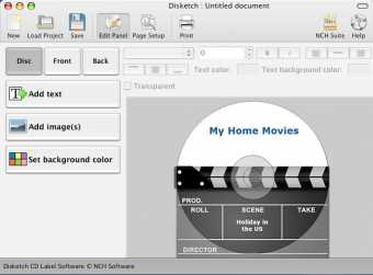 Disketch Free CD Label Software for Mac