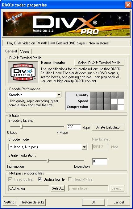 Download DivX Player with DivX Pro Codec (2K/XP)