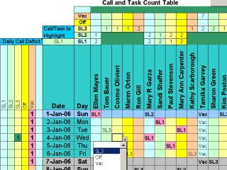 Download Doctors Calls for a Year with Excel