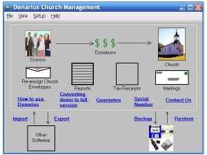 Download Donarius Church Management Software