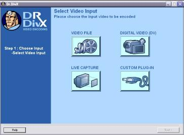 Download Dr. DivX (Three Step DivX Encoding App)