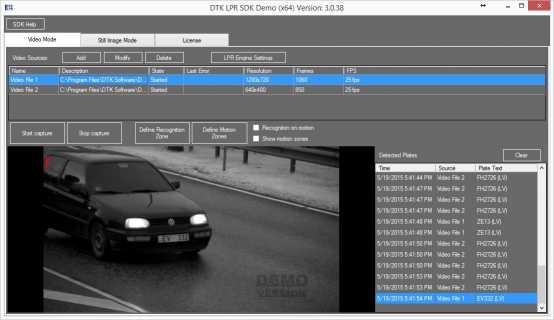 Download DTK ANPR SDK